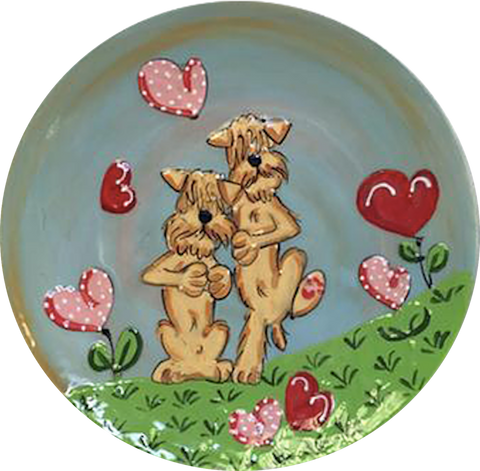 Wheaten Terrier | Dog Trophy Plate