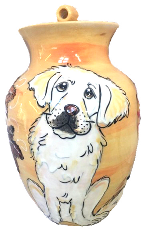 Custom Painted Pet Urn | Large Dog