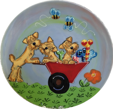 wheaten terrier trophy plate