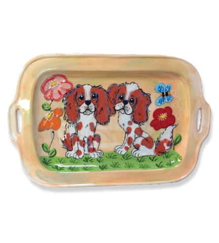 King Charles Cavalier | Dog Show Trophy Serving Tray