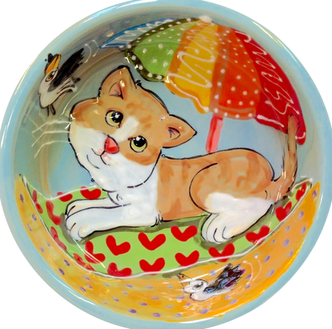 Custom Cat Bowls with fun designs