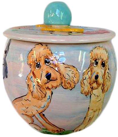 Treat Jar personalized with custom Labradoodle