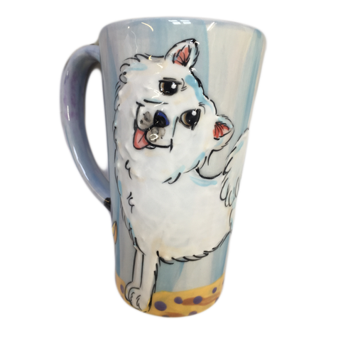 Samoyed | Trophy | Tall Latte Mug Set
