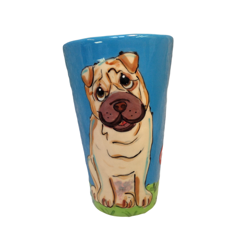 shar pei latte mug by Debby Carman faux paw productions