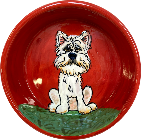 West Highland Terrier Water Bowl