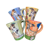 Whippets and Greyhounds | Hand Painted Dog Mug Sets