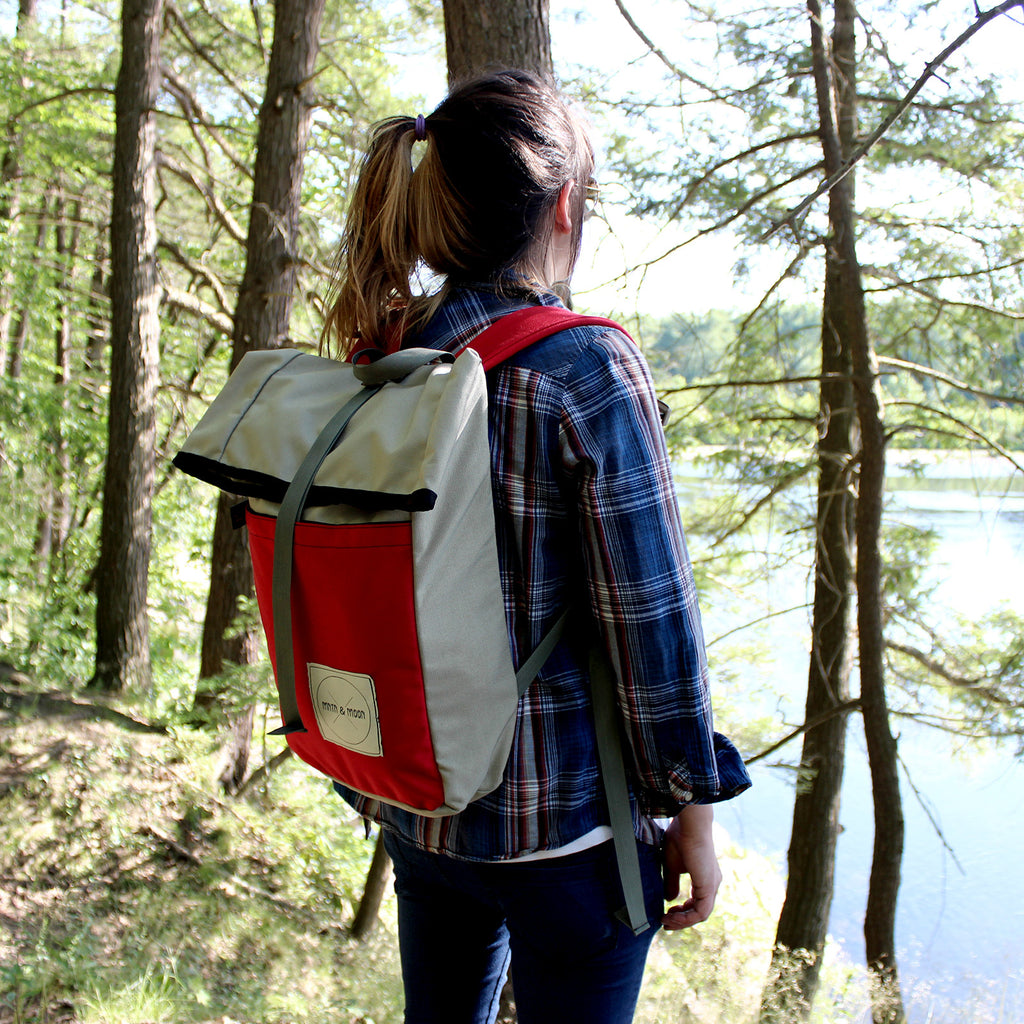 camping hiking rolltop rucksack daypack | Mntn & Moon X Buck Products Mini Kappsack backpack