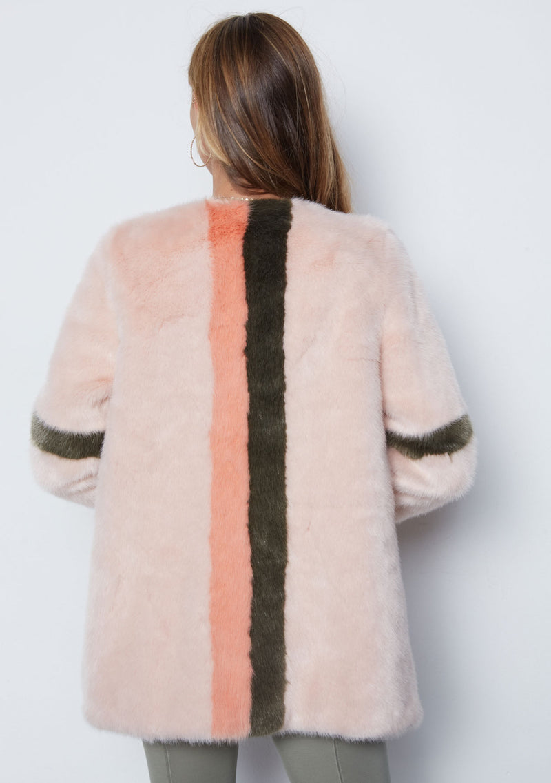 BLUSH WITH GREY STRIPE