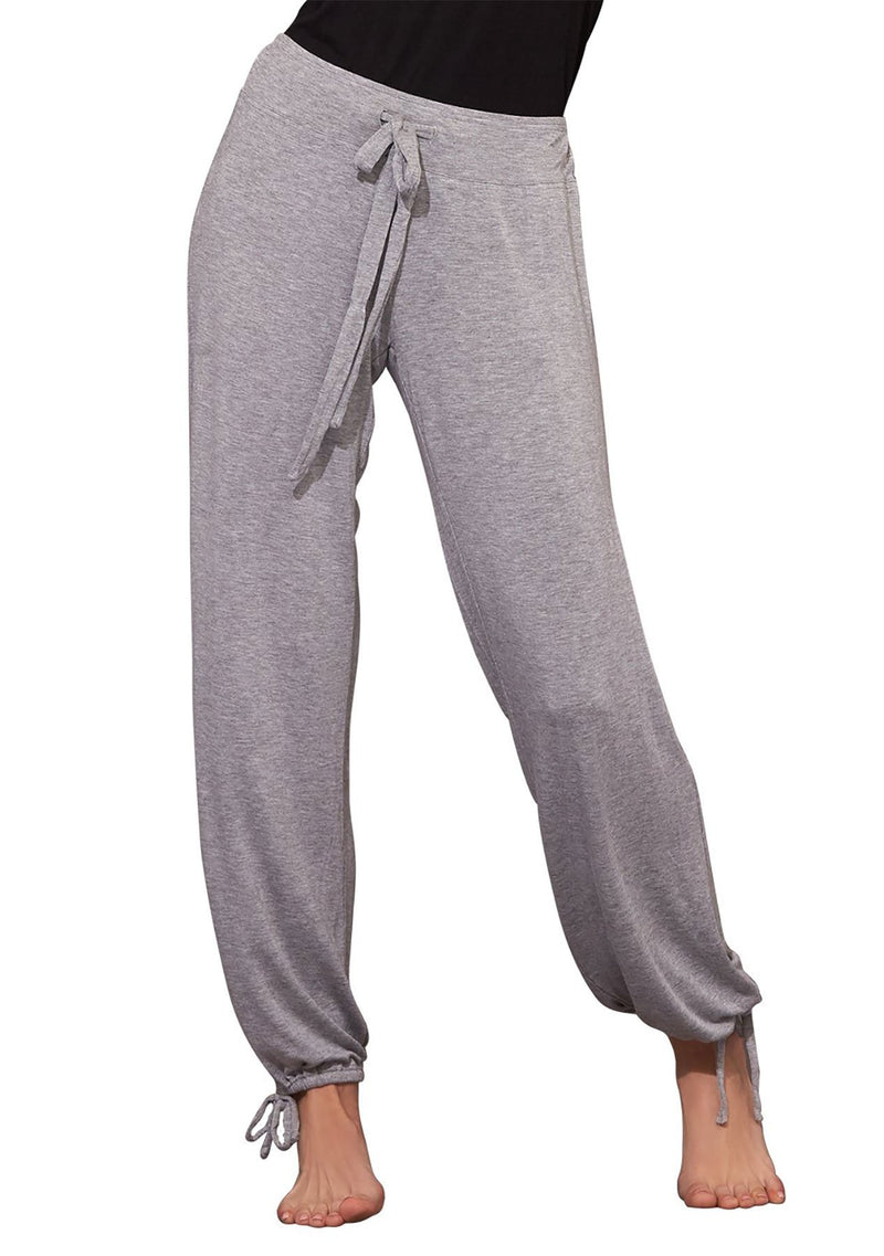Essential Shirred Pant in HEATHER GREY