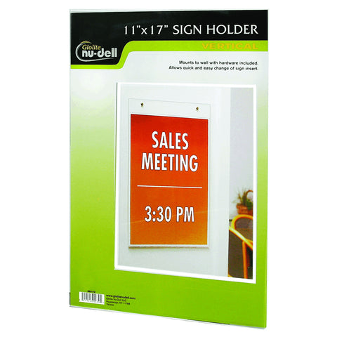 Portrait Wall Mount Plastic Sign Holder