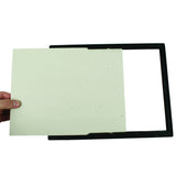 "8"" x 10"" EZ Mount Document Frame Plastic Face, Black w/ Gold Trim"
