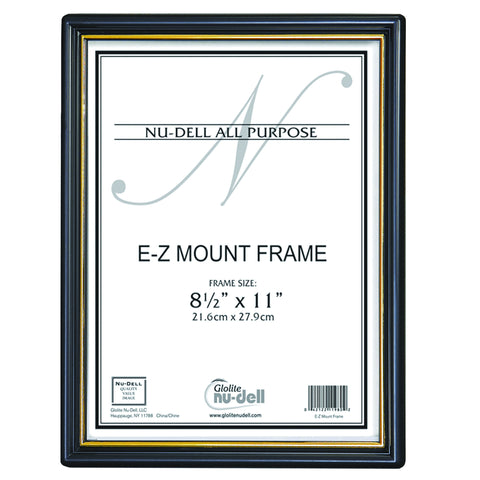 Black EZ Mount Document Frame, Plastic Face