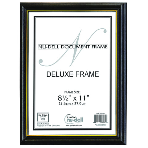 Gold Trim Deluxe Document Frame