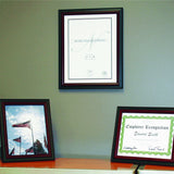 "11"" x 14"" Executive Document Certificate Frame, Black/Mahogany"