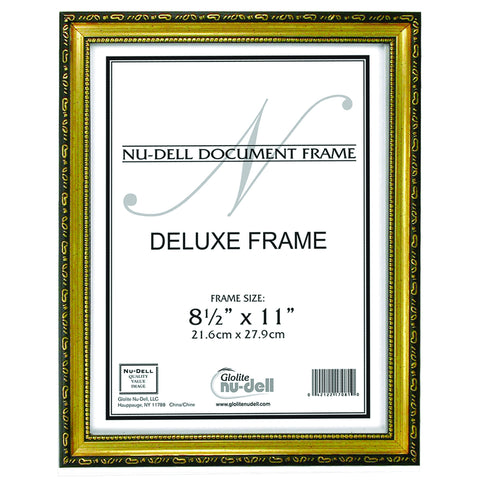 Nudell 85 X 11 Deluxe Wood Document Frame Blackgold Nudell