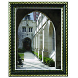 "11"" x 14"" Prestigious Traditional Document Frame Plastic Face, Black w/ Gold Trim"