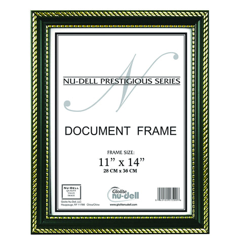 Prestigious Traditional Document Frame Plastic Face