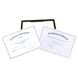 "(18) 8.5"" x 11"" EZ Mount Pre-Framed Award Certificate Frame VALUE PACK, Black/Gold"