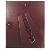 "8.5"" x 11"" Leather Grain Frame, Burgundy"