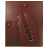 "(2) 8.5"" x 11"" Leather Grain Certificate Frame VALUE PACK, Burgundy"