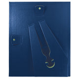 "(2) 8.5"" x 11"" Leather Grain Certificate Frame VALUE PACK, Blue"