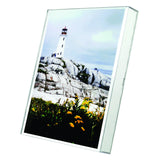 "8.5"" x 11"" Box Photo Frame / Sign Holder Un-Frame, Clear"