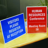 "8"" x 10"" L-Shaped Sign Holder, Clear"