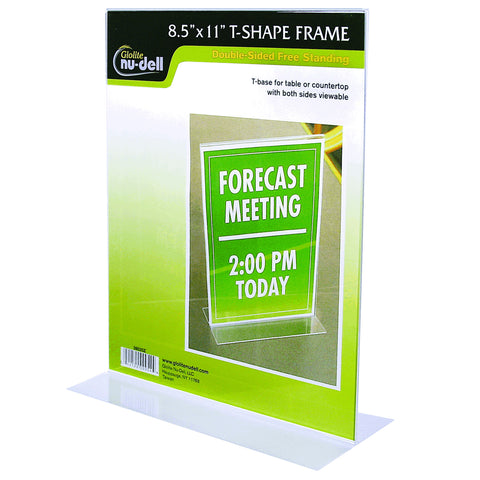 Table Top Double Sided T-Base Freestanding Sign Display Frame