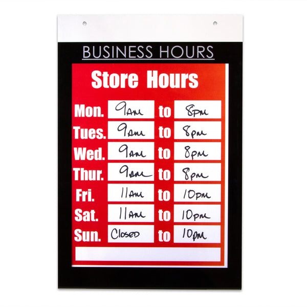 Nudell 8 5 Quot X 11 Quot Business Hours Sign Holder Mounting
