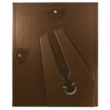 "(2) 8.5"" x 11"" Leather Grain Certificate Frame VALUE PACK, Espresso Brown"