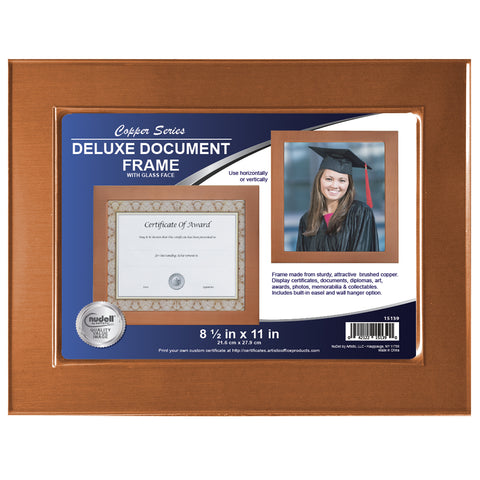 Nudell 85 X 11 Metal Master Series Documentphoto Frame Copper