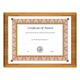 "8.5"" x 11"" Economical Award Plaque, Oak"