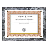"8.5"" x 11"" Economical Award Plaque, Black Marble"