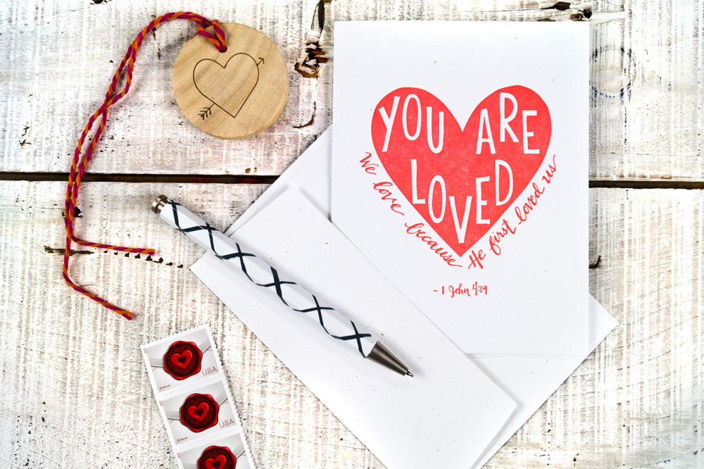 You Are Loved Letterpress