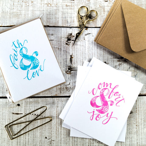 Christmas Letterpress Card Pack {Set of 5} Ampersand Snowflake Series