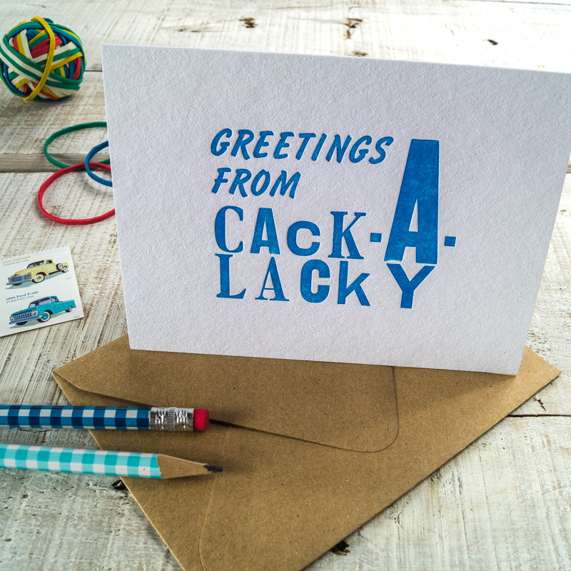"Carolina ""Cackalacky"" Letterpress Card"