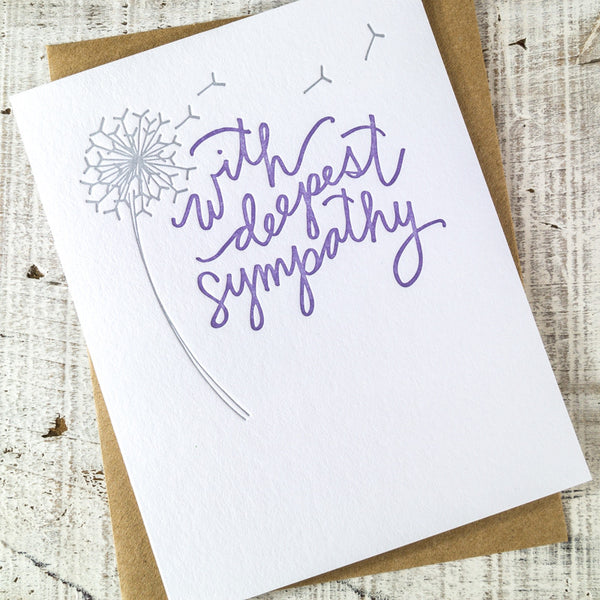 With Deepest Sympathy Letterpress Card