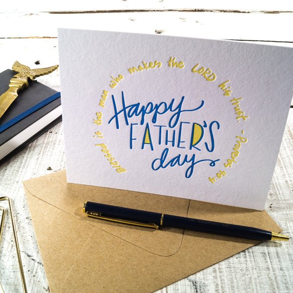 Father's Day Proverb Letterpress Card