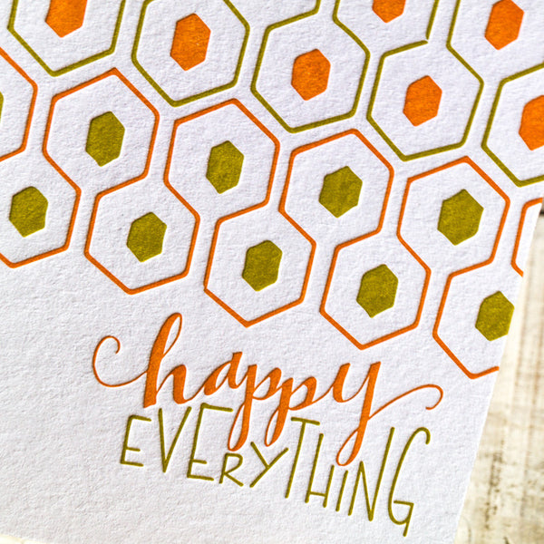 Happy Everything Letterpress Card