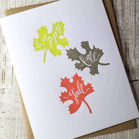 Happy Fall Y'all Letterpress Card