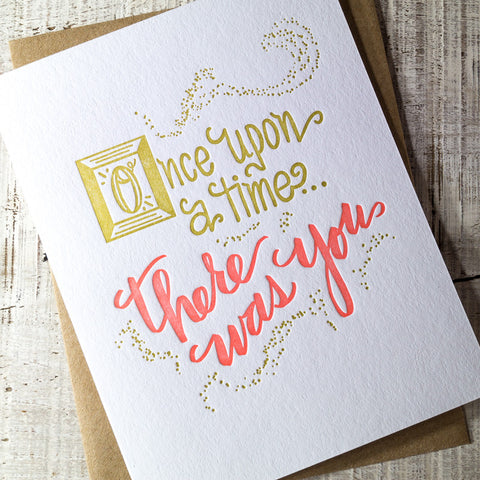 Once Upon a Time Letterpress Card
