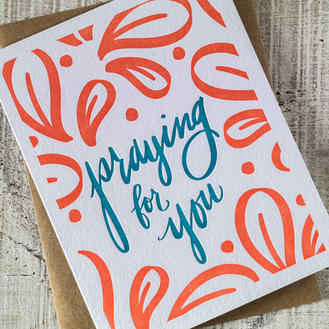Praying for You Letterpress Card
