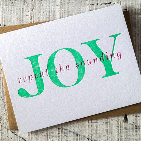 Joy to the World Letterpress Christmas Card