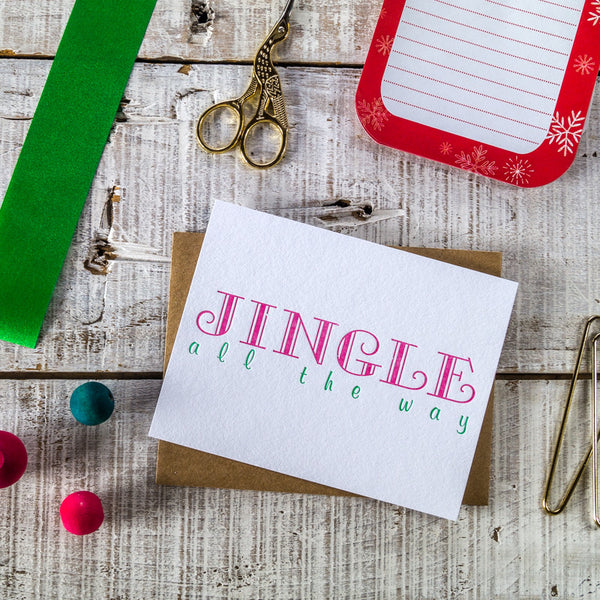 Jingle Bells Letterpress Christmas Card