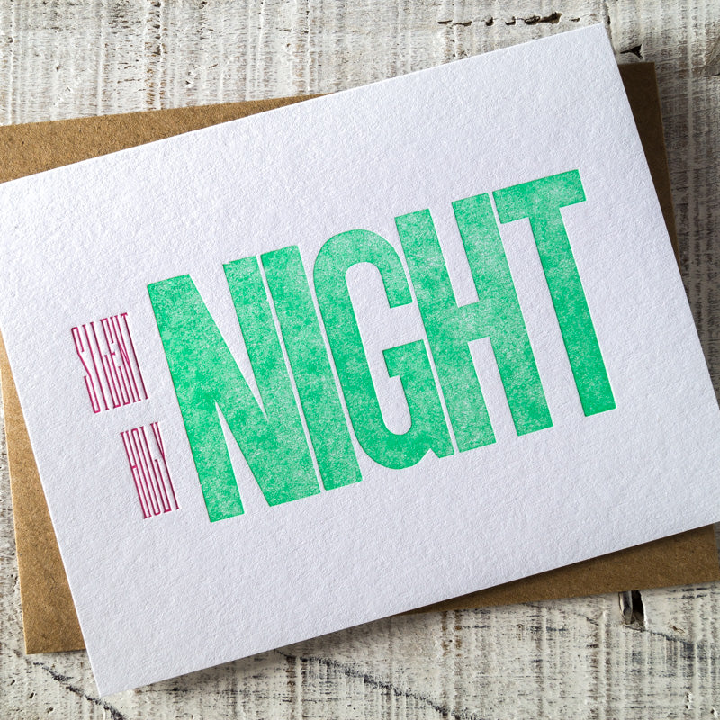 Silent Night, Holy Night Letterpress Christmas Card – R&B Printery