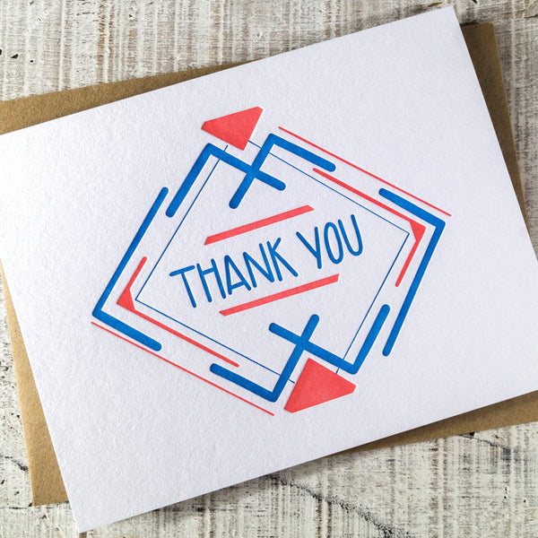 Thank You Angles Letterpress Card