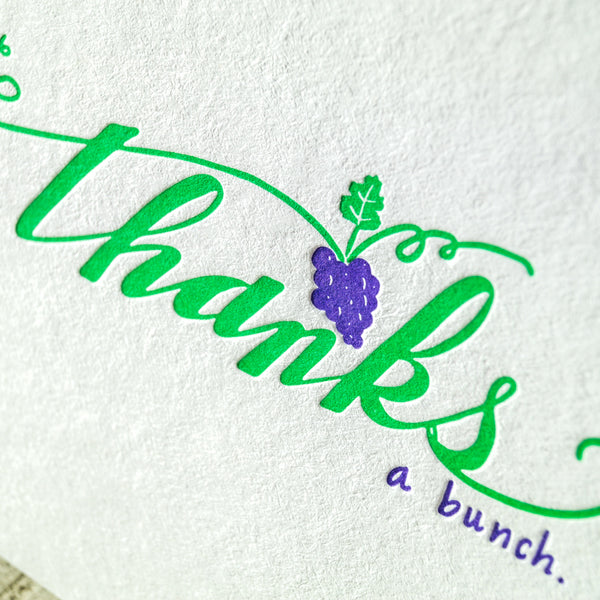 Thanks a Bunch Letterpress Card