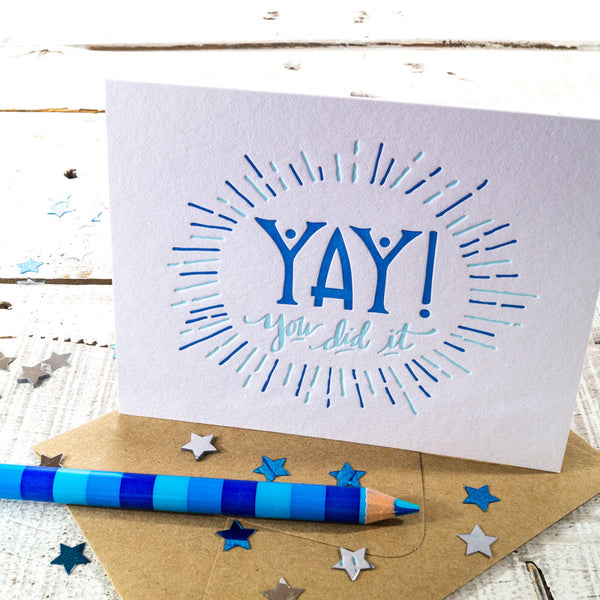 YAY! Letterpress Card