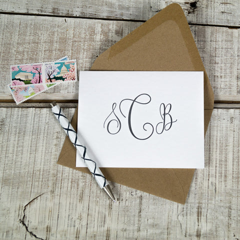 Personalized Eco-Friendly, 100% Recycled Letterpress Stationery