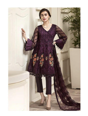 Sangria shaded embroidered Designer suit